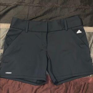 Black Adidas Adizero Ladies Golf Shorts Size 4